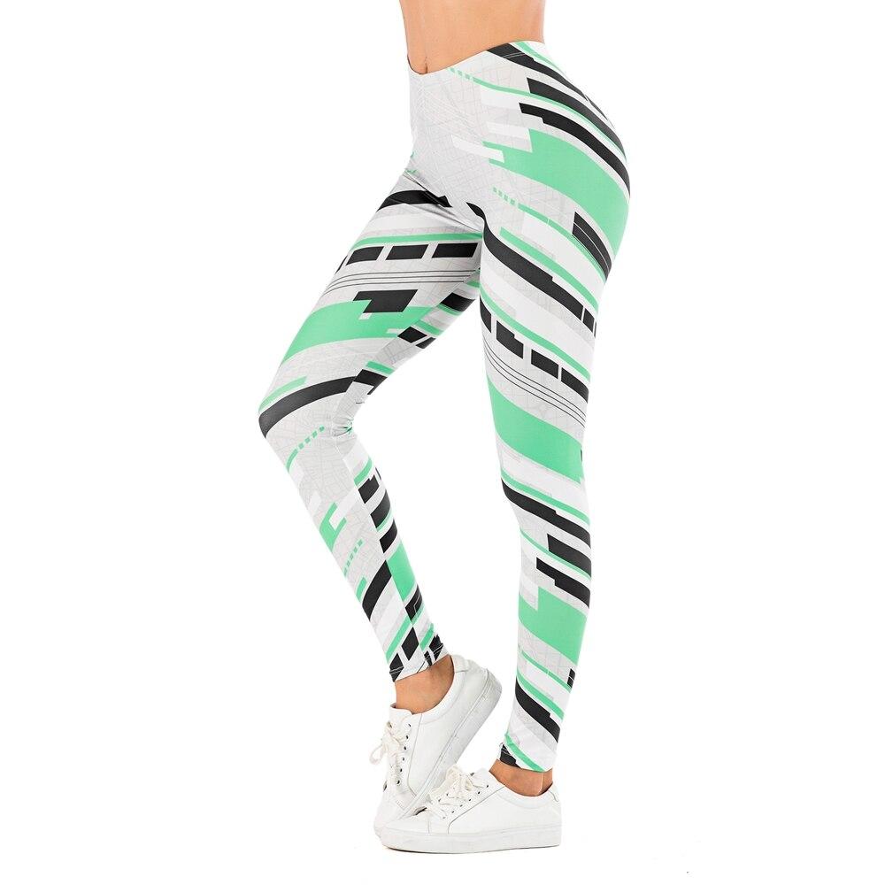 Brand Sexy Women Legging leaf Printing Fitness leggins Fashion Slim legins High Waist Leggings Woman Pants 15