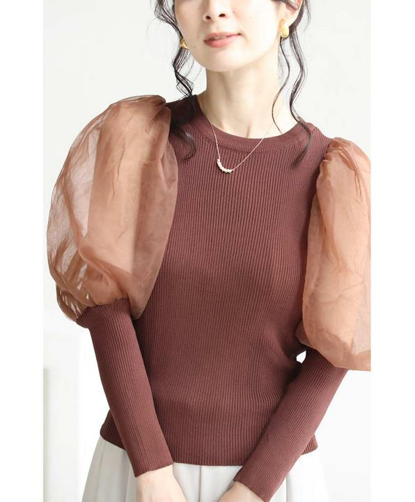 Autumn Women Puff Sleve Slim Body Sweaters Female Lantern Sleeve Knitted Shirts Woman Puff Sleeve Sweaters Tops