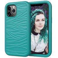 Nuova custodia antiurto per telefono 3 in 1 per iPhone 12 Pro 11 Pro Max X XR XS Max 8 7 Plus 12Mini Fashion Wave Texture Cover posteriore