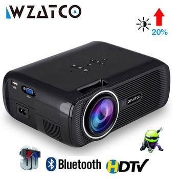 WZATCO CTL80 Android 6 Wifi inteligente portátil Mini LED 3D TV proyector soporte Full HD 1080p 4K Video proyector de Beamer para cine en casa