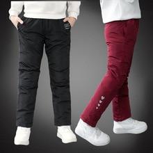2019 Autumn Winter Pants For Boy Thicken Girls Leggings Winter Warm Plus Velvet Trousers Warm Corduroy Thick Kids Sport Pants цена и фото