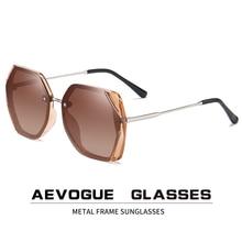 AEVOGUE Neue Frauen Polygon Oversize Mode Reise Polarisierte Sonnenbrille Gradient Lens Fahren Outdoor Brille UV400 AE0818