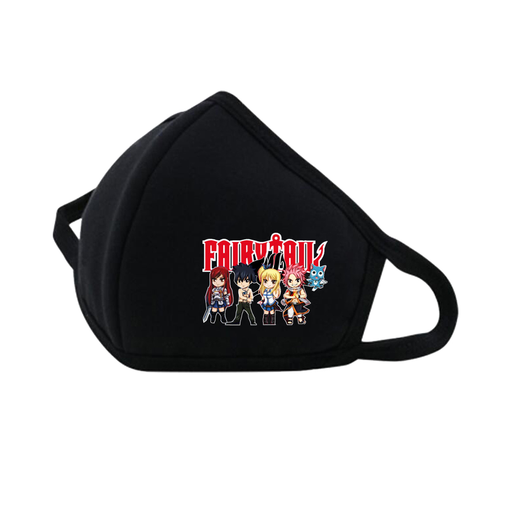 Game Anime Fairy Tail Dustproof Breathable Protective Cover Masks Reusable Respiratory Care Mask Mouth Face Mask