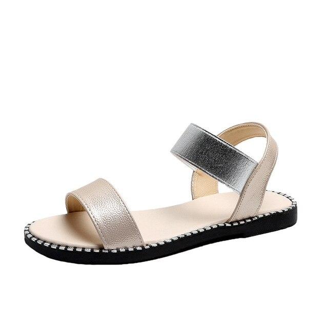 Sandales plates pour femmes été noir diapositives dame chaussures romaines bande élastique Slip-on bout ouvert couture couleur ours motif semelle