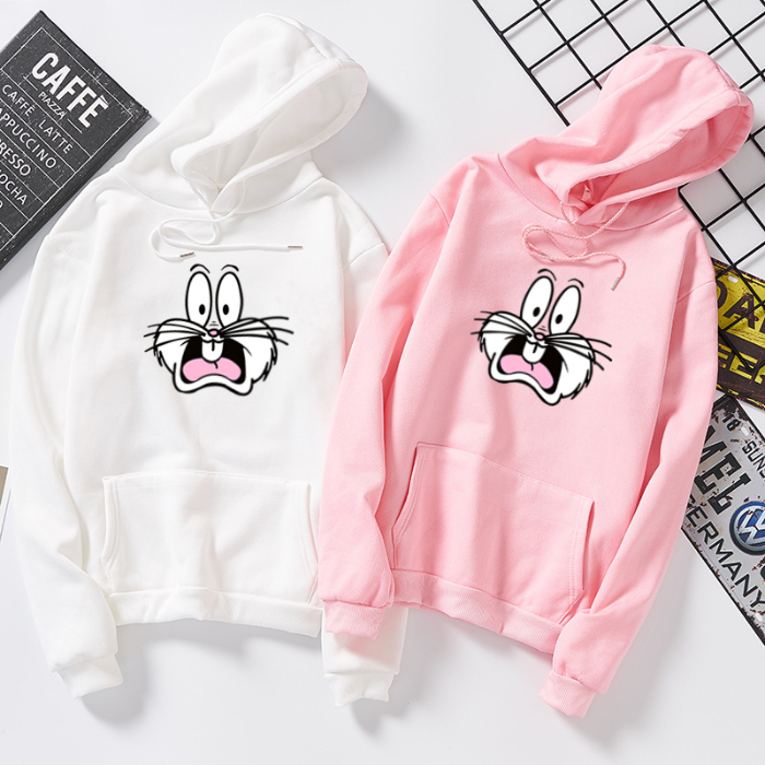 S936 Garfield Cat Personality Print Tops Casual Loose Warm New Long Sleeve Fashion Women Sweatshirt