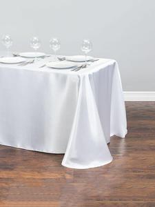 Satin Tablecloth Overlays Wedding-Decoration Christmas Banquet Rectangle New-Year 1pcs