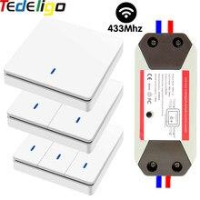 Smart Light Switch 1/2/3 Gang 433Mhz pulsante interruttore Wireless telecomando AC90 ~ 250V 10A Controller relè per lampada da soffitto