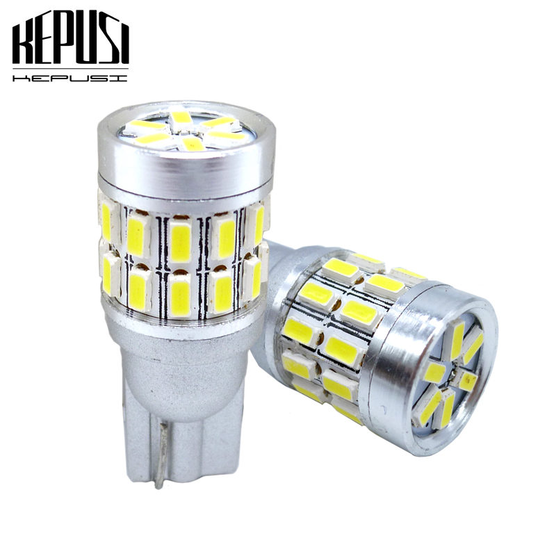 2Pcs <font><b>T10</b></font> LED Canbus W5W LED Bulb Auto Lamp <font><b>3014</b></font> <font><b>30SMD</b></font> Car Interior Light 194 168 Lights Bulb White Side marker Lights 12V image