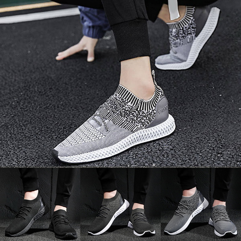 Running Shoes For Men Sneakers Solid Sock Athletic Shoes Men Summer Breathable Jogging Trainers Mesh Zapatillas Hombre Size39-44