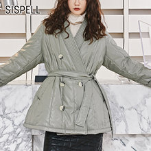 Женская хлопковая куртка sispell на шнуровке с бантом v образным