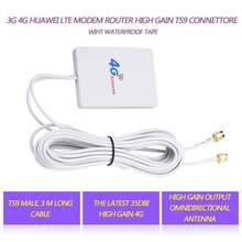 3G 4G LTE antenne TS9 connecteur 4G LTE routeur Anetnna 3G antenne externe avec câble 3m pour Huawei 3G 4G LTE routeur Modem