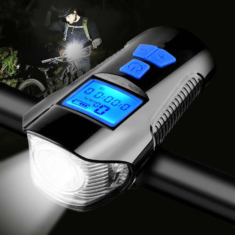 USB Bicycle Light Mountain Bike Headlamp Waterproof LED Bicycle Light LED 4 Mode
