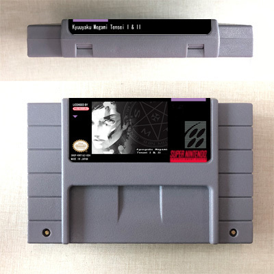 Shin Megami Tensei I & II (2 en 1)  tarjeta de juego RPG, versión estadounidense, ahorro de batería en idioma inglés