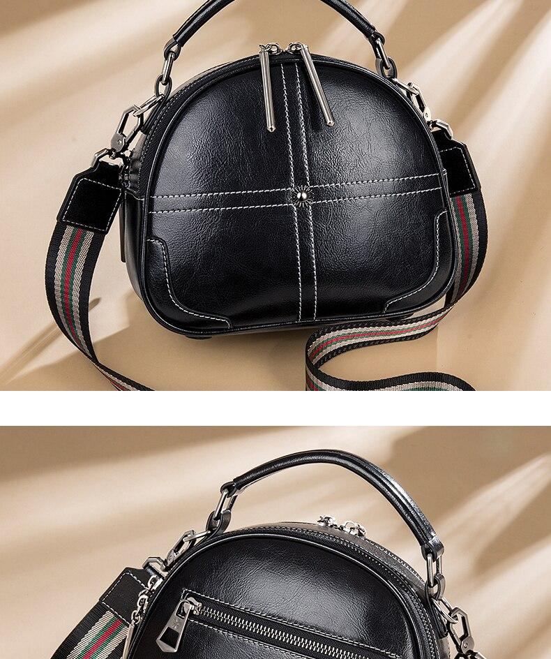Moda de couro genuíno crossbody sacos de