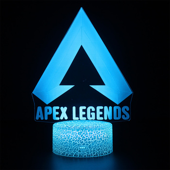 APEX Legends 3D Projection Lamp USB RGB Color Battle Royale Game Kids Sleep Lights Nightlight