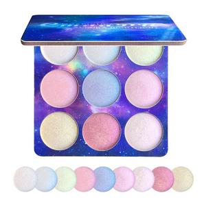9 Color/set Professional Natural Glitter Eye Shadow Powder Palette Shimmer Makeup Palettes Easy To Wear Eye Shadow Pallete TSLM2