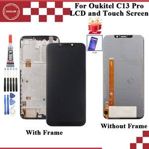 """Image 1 - Oukitel C13 프로 LCD 디스플레이 및 터치 스크린 디지타이저 어셈블리 6.18 """"에 대한 ocolor 필름 + 도구와 Oukitel C13 프로 스크린"""
