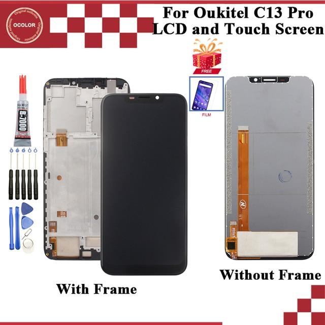 """Oukitel C13 프로 LCD 디스플레이 및 터치 스크린 디지타이저 어셈블리 6.18 """"에 대한 ocolor 필름 + 도구와 Oukitel C13 프로 스크린"""