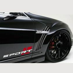 SPORT Decal Sticker Car Racing Stripe Emblem Logo Motorsport R Performance PAIR Auto Decoration Reflective Stickers Car Accessor