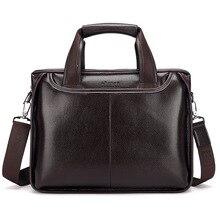 Men's Briefcase Soft Leather Laptop Shoulder Bags Men Briefcase Messenger Crossbody Bags For Male Handbags bolso hombre XA621C