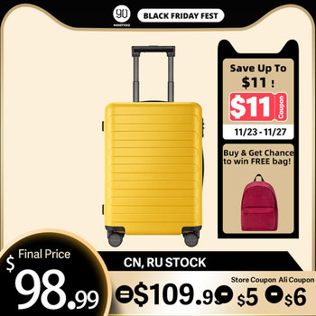 NINETYGO 90FUN Carry On Luggage 20 inch 4-wheel spinner Lightweight Hardshell PC Suitcase with TSA Lock for Travel Business carry on lightweight 4 wheel spinner expandable upright suitcase
