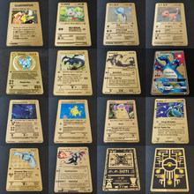 Gioco caldo Anime Battle Pokemon Cards Gold Metal GX EX Card Charizard Pikachu Collection Card Action Figure Model Child Toy Gift