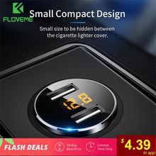 FLOVEME 5 в 3.6A автомобильное зарядное устройство, двойное USB быстрое зарядное устройство, прикуриватель, автомобильное зарядное устройство для iPhone, Xiaomi, samsung, зарядное устройство для мобильного телефона s