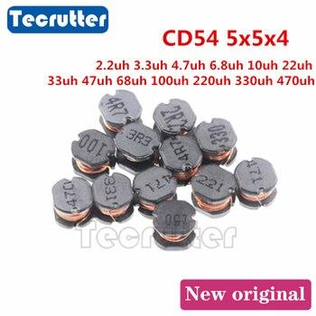 20 pièces CD54 5x5x4 2.2uh 3.3uh 4.7uh 6.8uh 10uh 22uh 33uh 47uh 68uh 100uh 220uh 330uh 470uh SMD bobiné inducteur de puissance
