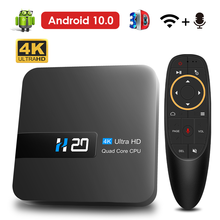 2020 Android TV Box Android 10 4K H.265 reproductor de medios 3D Video 2,4G Wifi Dispositivo de TV inteligente 4K Set de top Box Android