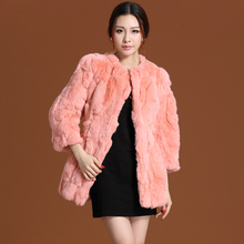 2020 New Autumn and Winter Natural Rex Rabbit Fur Coats Wome