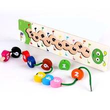 Деревянные Обучающие Развивающие детские игрушки Мультяшные