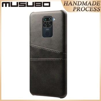 Musubo Genuine Leather Case For XIAOMI REDMI Note 9 Pro Max 8 Pro Luxury Back Cover For REDMI K30 K20 Pro 8A 7A Fundas Card Slot