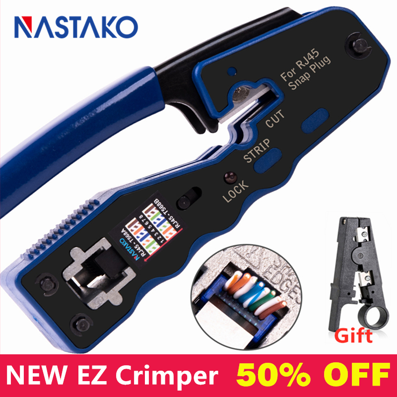 NEW RJ45 tool EZ RJ45 network tool rj45 crimper RJ45 Cable Crimping Tool network crimp tools for RJ45 Cat6 Cat5 Plug rj45 Pliers|Networking Tools|   - AliExpress