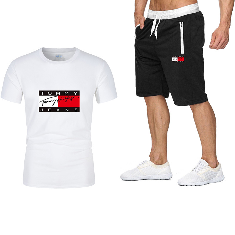 2021 New Men's Brand Sportswear Shorts Set Short Sleeve Breathable T-Shirt And Shorts Casual Wear Men's Basketball Training Suit
