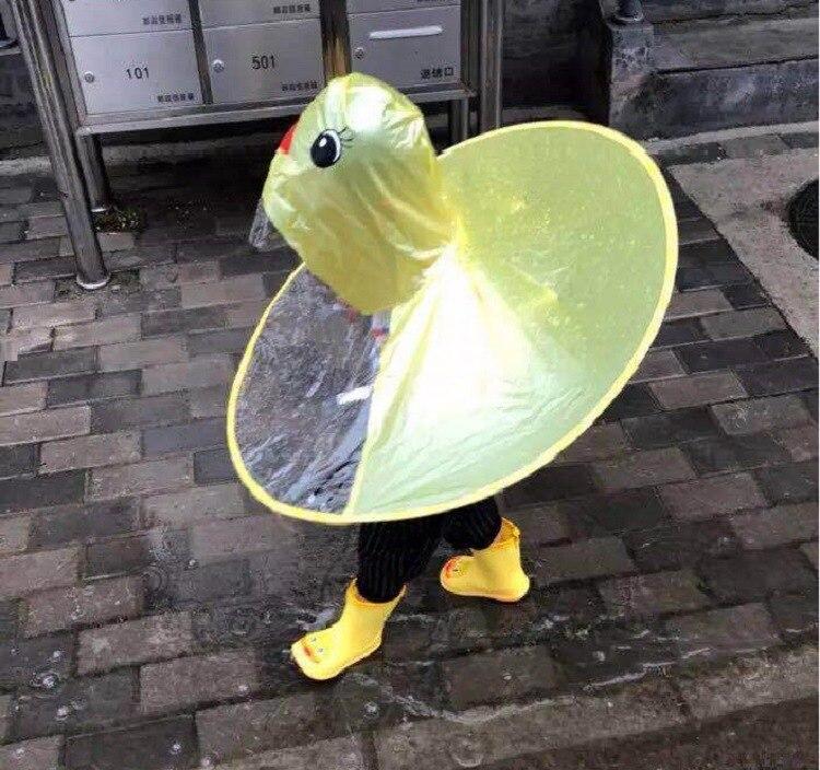 PPXX Yellow Duck Cartoon Children Raincoat Jacket Waterproof Outfit Rain Cover Baby Kids Poncho Cloak 3