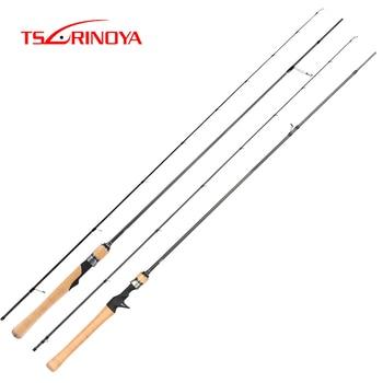 TSURINOYA DRAGON 2 Sections Light Fishing Rod 1.89m 1.98m 2.04m 2.1m Spinning / Baitcasting Fishing Rod  L Power Fishing Pole