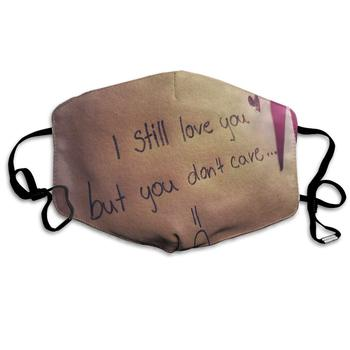 Dust Mask Heart Touching Sad Love Face Mask Fashion Anti-dust Reusable Cotton Comfy Breathable   Mouth Cover Masks for Women Man вечернее платье red dust love bell f2 15