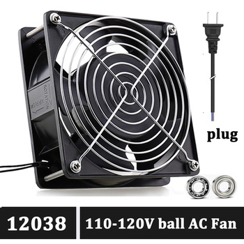 Gdstime AC Cooling Fan 120x120x38mm 110V/120V 120mm Metal Frame Axial Flow Cooling Fan 2 wire connector Ball 12038 Exhaust Fan ta15052hbl 2 axial cooling fan ac 220v 0 18a 17252 17cm 172 150 52mm 2 wires 50 60hz
