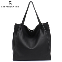 SC Luxury Genuine Leather Big Tote For Women High Quality Soft Cowhide Handbag Ladies Large Shoulder Bag Female Casual Crossbody