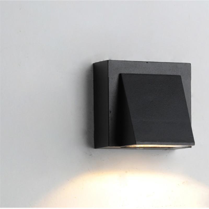 Modern simple creative  outdoor waterproof wall lamp LED courtyard  gate terrace balcony garden  3W 5W 6W 10W