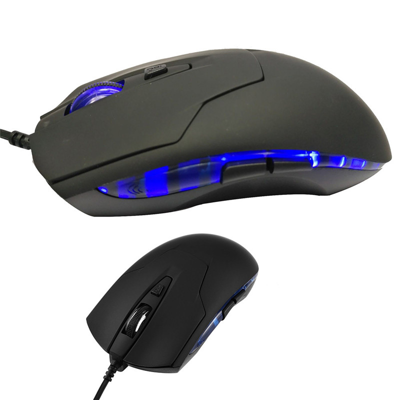 Computer Gaming Mouse DPI 6 Button USB LED Light Optical Wired Mice USA