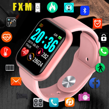 цена на Y68 Bluetooth Women Sport Smartwatch Men Waterproof Smart Watch Heart Rate Monitor Smart Android Relogio Fitness Tracker reloj