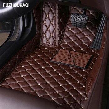 Leather car floor mats for Chevrolet Captiva Sonic Sail Spark Aveo Cruze Blazer epica Camaro Equinox Cavalier Trax foot