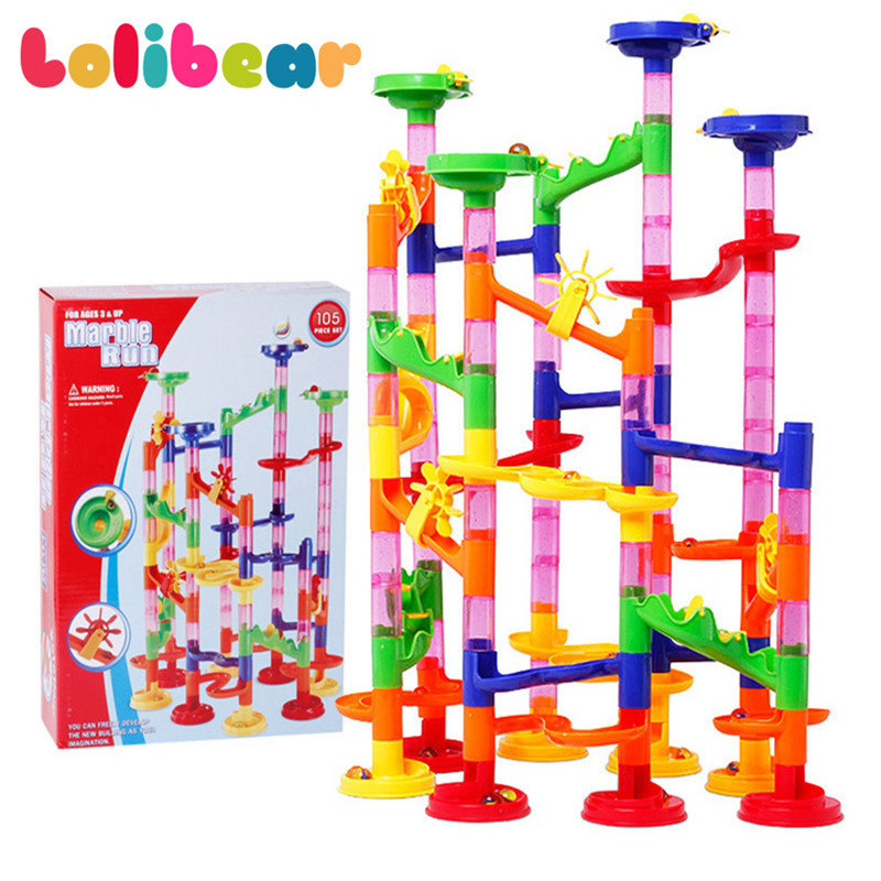 105pc Marble Run Construction Maze Race Track Building Children Toy Game Set