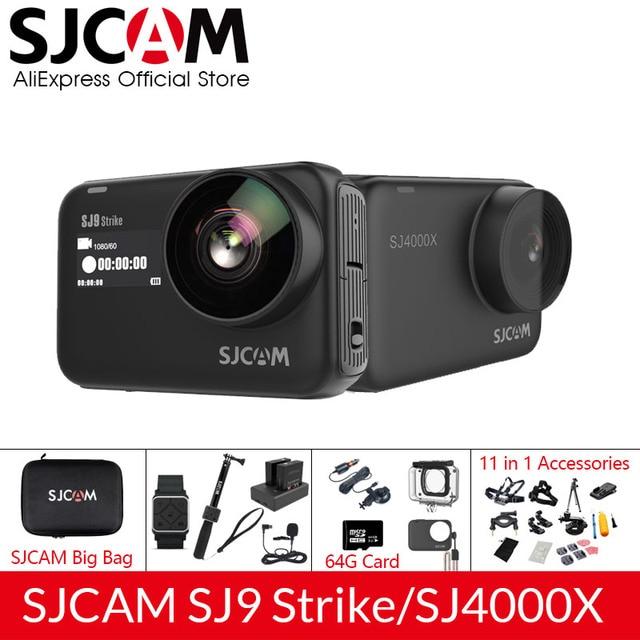SJCAM SJ9 Series SJ9 Strike SJ4000X GYRO Body Waterproof 4K Action Camera Live Streaming 2.4G Wifi Sports Video Camera