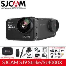 Sjcam sj9 série sj9 greve sj4000x giroscópio corpo à prova dwaterproof água 4k ação câmera ao vivo streaming 2.4g wifi câmera de vídeo esportes