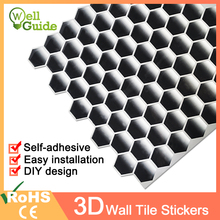 3D Wall Sticker Mosaic Brick Self-Adhesive paper for Kitchen Bathroom Home Waterproof DIY Stickers Decal