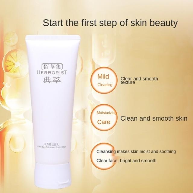 Counter Genuine Herborist Marigold Facial Cleanser Amino Acid Facial Cleanser Gentle Cleansing Soothing Sensitive 120G CN 2