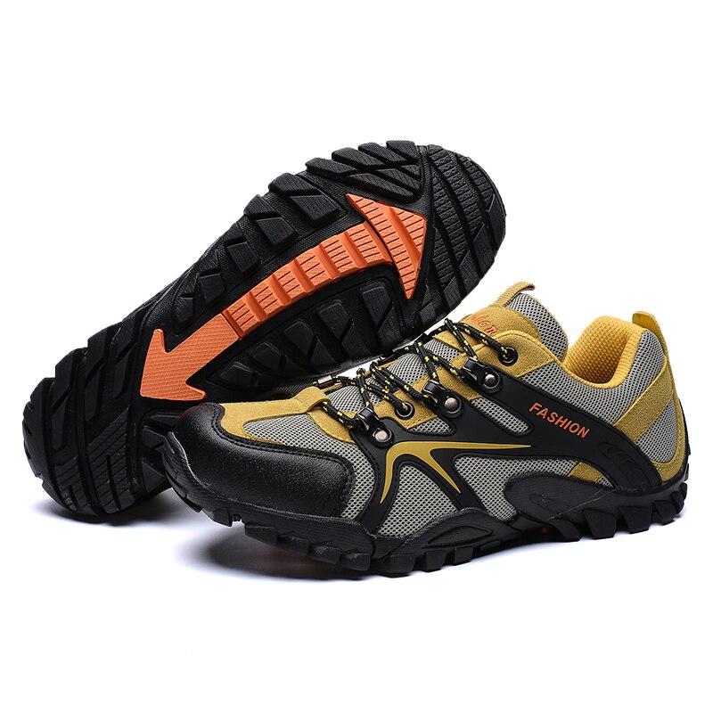 HUMTTO Männer Wanderschuhe Im Freien Atmungsaktive Trekking Schuhe für Männer Nicht-slip Klettern Camping Turnschuhe Mann Gummi Sohle Sport schuhe