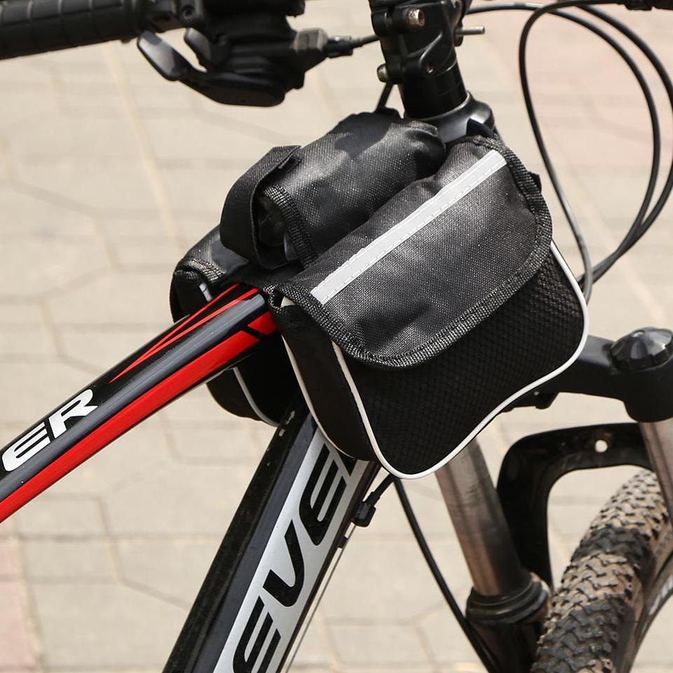 Outdoor Sport Bicycle Cycling Front Frame Tube Bag Phone Holder Bag Organizer 34